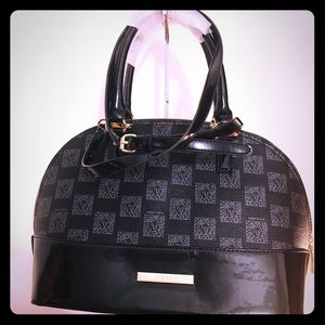 Anne Klein Domed Satchel Multi Black Purse